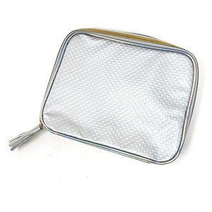 Unite | Silver Metallic Zipper Clutch Travel Bag